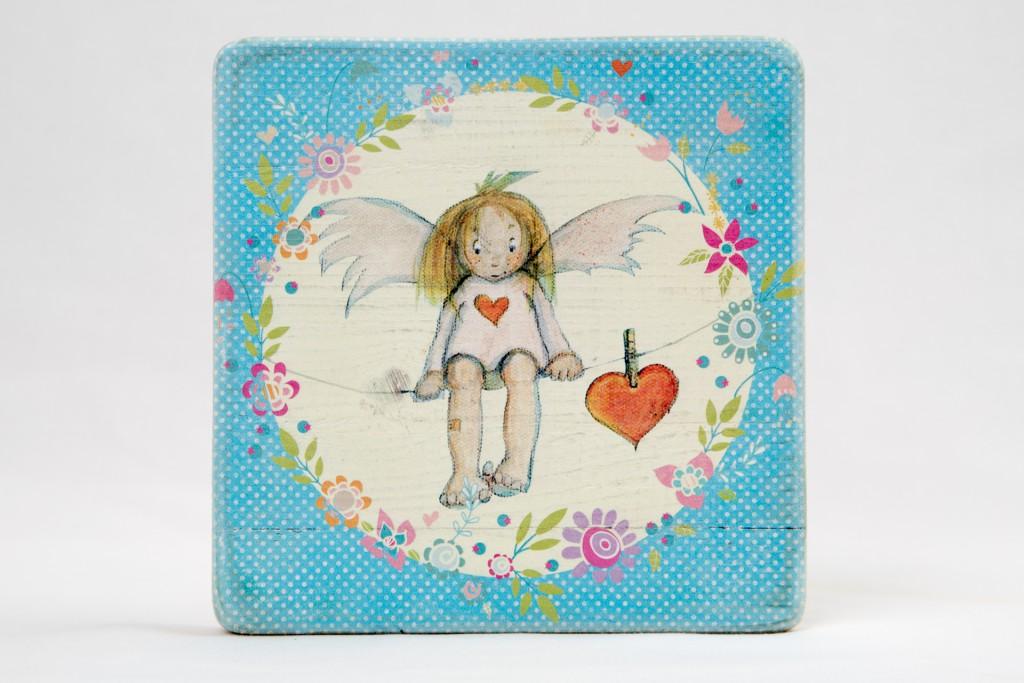 Linas Engel mit personalisiertem Namen und Geburtsdatum