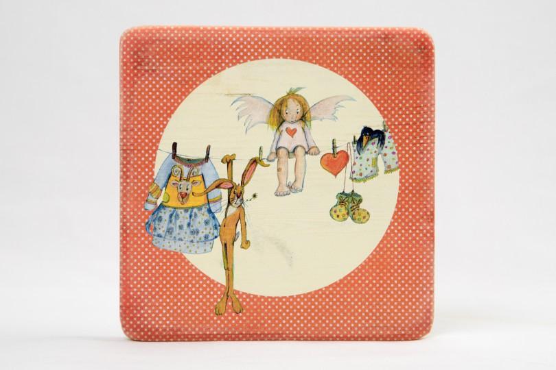 Personalisierte Engelbilder auf Vinitage-Holz