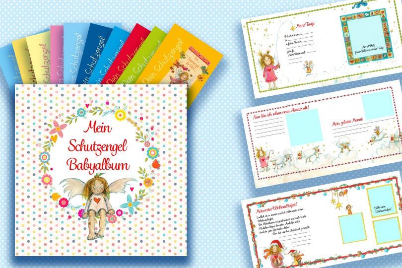Babyalbum mit Postkartenset